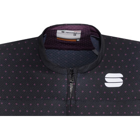Sportful Diva Fietsshirt korte mouwen Dames violet/zwart